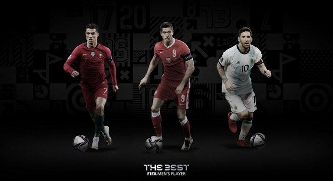 Cristiano Ronaldo, Lewandowski e Messi disputam o melhor do mundo