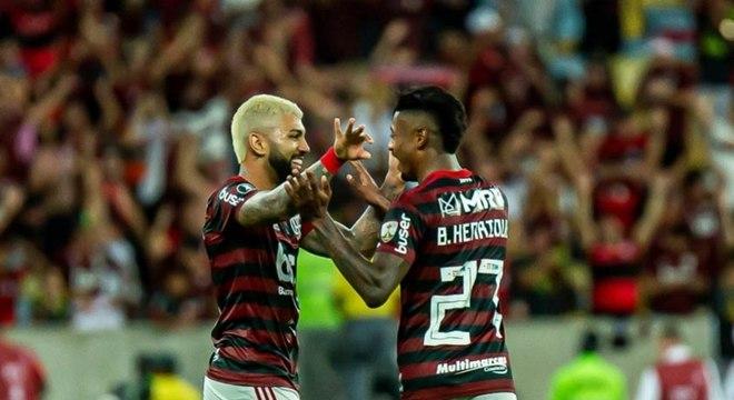 Gabigol e Bruno Henrique: dupla marcou 78 gols em 2019