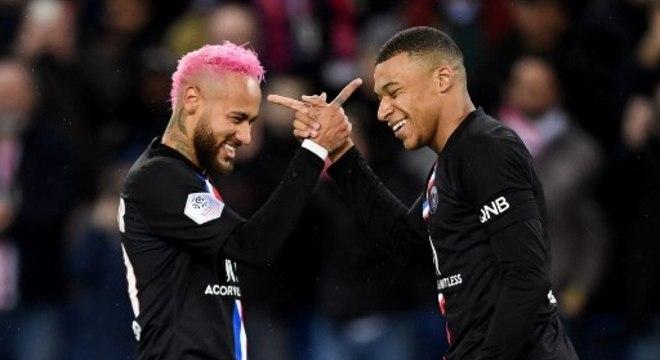 Neymar e Mbappé estão relacionados para jogo contra Borussia