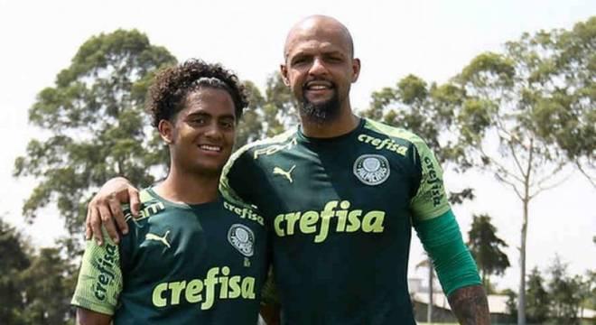 Linyker Melo, filho de Felipe Melo, é promovido ao sub-20 do Palmeiras