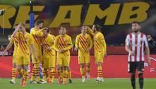 Com 2 de Messi, Barcelona goleia o Bilbao e é campeão da Copa do Rei
