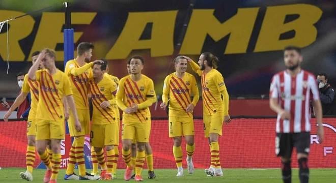 Barcelona marcou quatro vezes em 12 minutos