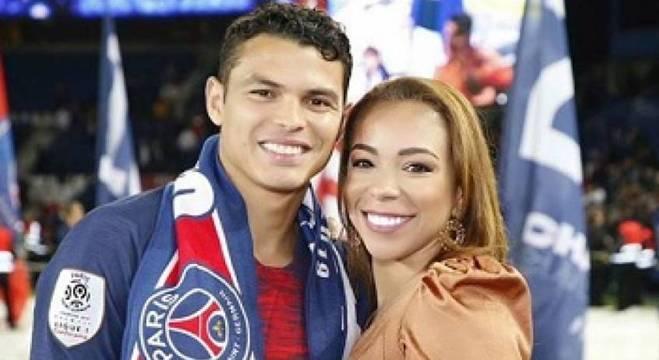 Belle com Thiago Silva, zagueiro da seleção brasileira e do PSG