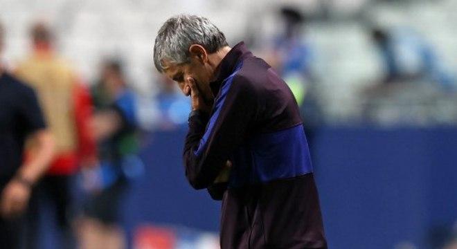 Quique Sétien não resistiu ao 8 a 2 do Bayern de Munique sobre o Barcelona