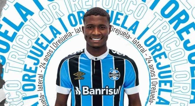 Mais um reforço! Grêmio anuncia a contratação do lateral Orejuela