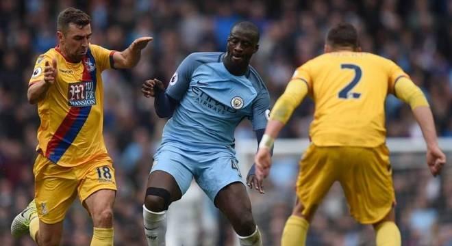 Yaya Touré em ação pelo Manchester City