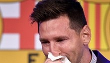 Lenço de Messi em adeus ao Barça está à venda por R$ 5,2 milhões