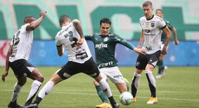 Palmeiras venceu o jogo de ida contra o Ceará por 3 a 0