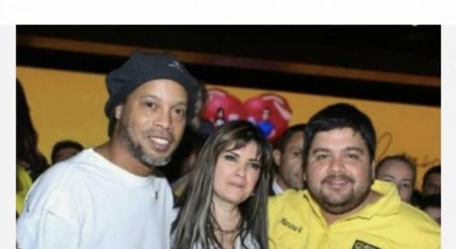 Ronaldinho foi levado ao Paraguai por Dalia López