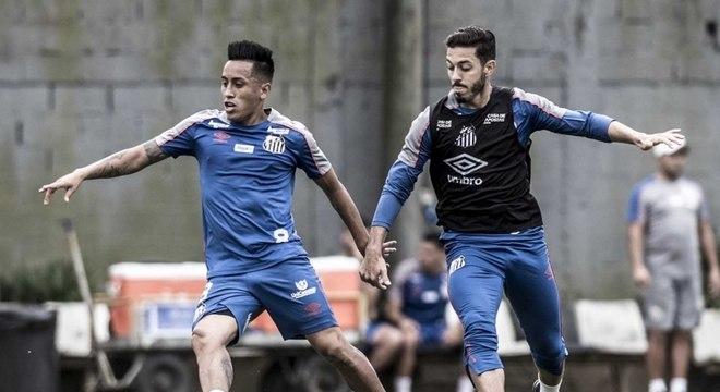 Cueva é desfalque certo do Santos contra o Botafogo, neste domingo, pelo Brasileiro