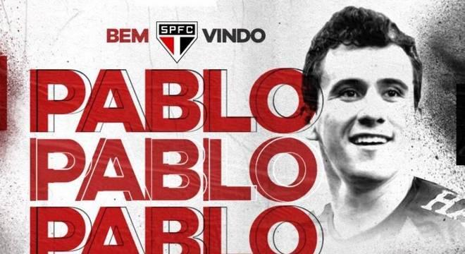 São Paulo anunciou Pablo nesta quarta-feira