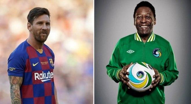 Pelé fez postagem em redes sociais para homenagear Messi por recorde