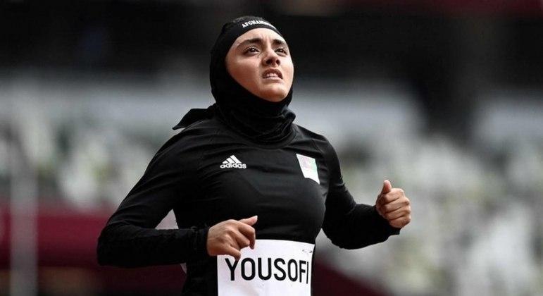 A velocista Kamia Yousufi, porta-bandeira nas Olimpíadas do Rio e de Tóquio