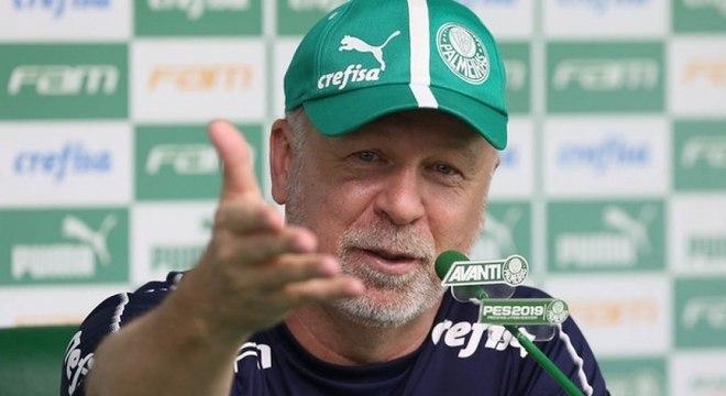 Mano Menezes venceu as três partidas em que comandou o Palmeiras até aqui