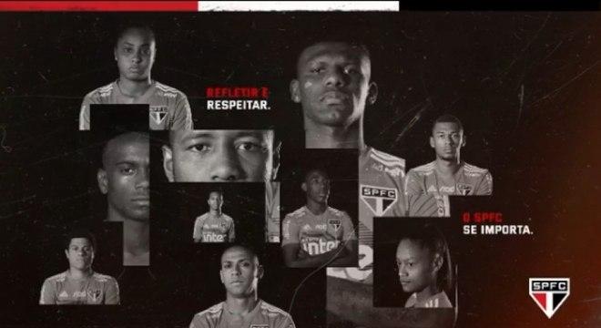 Jogadores do São Paulo participaram do vídeo