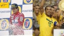 Nascidos em 21 de março, Senna e Ronaldinho recebem homenagens