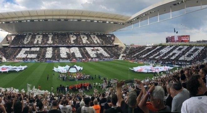 Corintianos lotaram a Arena para a final