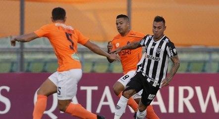 Vargas foi pouco acionado no ataque do Atlético-MG