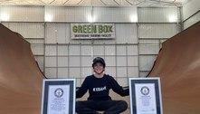 Brasileiro de 11 anos entra para o Guinness com manobra no skate