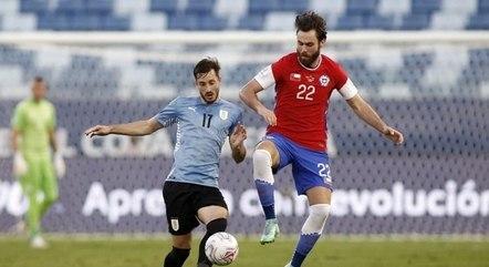 Urugaui e Chile se enfrentaram na Arena Pantanal