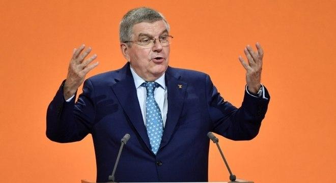 Thomas Bach, presidente do COI, garantiu a realização da competição
