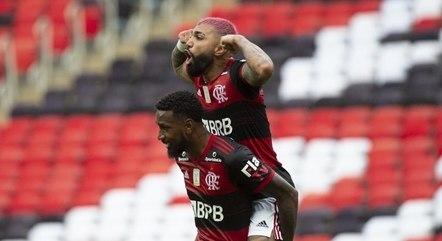Gabigol marcou o segundo gol do Flamengo