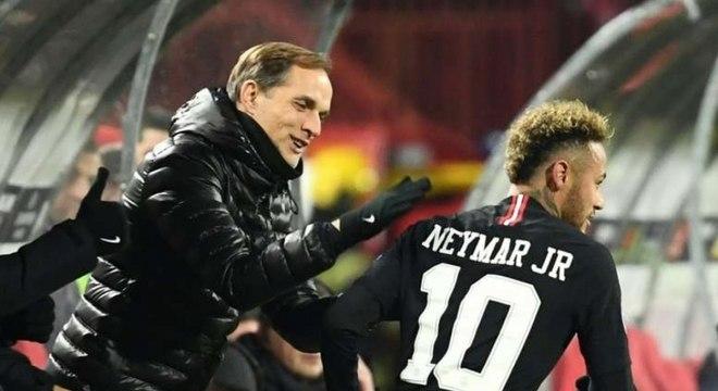 O treinador Tomas Tuchel afirmou que Neymar está focado no PSG