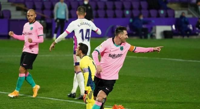 Lionel Messi já marcou 644 gols com a camisa do Barcelona