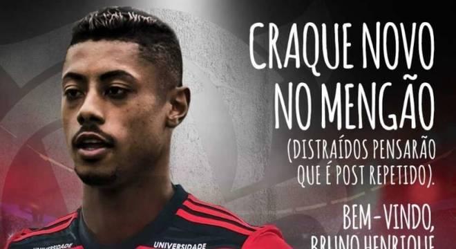 Flamengo brincou ao anunciar mais um reforço de peso para 2019