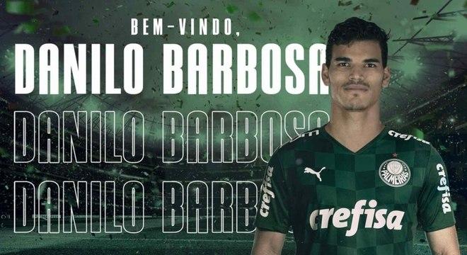Danilo Barbosa é o primeiro reforço do Palmeiras para 2021
