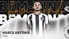 Botafogo anuncia oficialmente a contratação do meia Marco Antônio