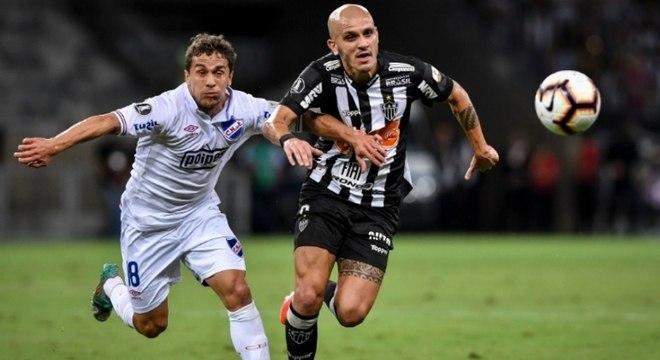 A equipe mineira não conseguiu se impor no jogo e não superou a forte marcação uruguaia