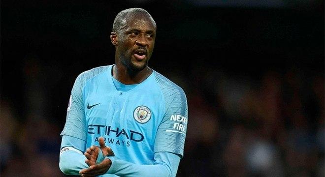 Yayá Touré em ação no Manchester City