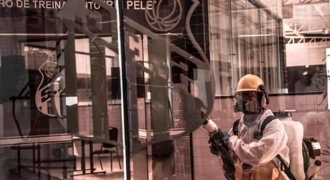 CT Rei Pelé passou por processo de desinfecção no último domingo