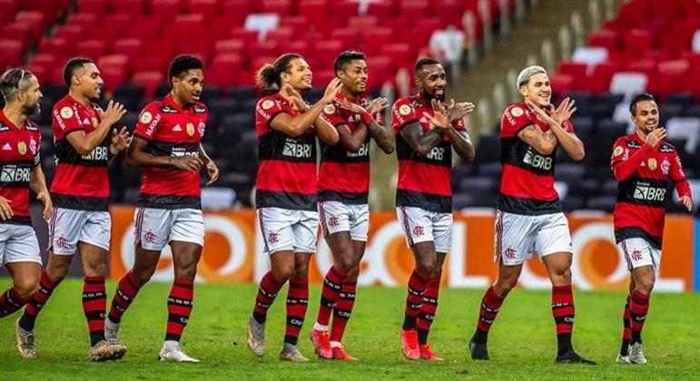 Jogadores do Flamengo homenagearam Gerson, que vai jogar na França