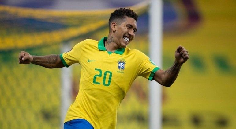 Roberto Firmino fez o gol que iniciou a reação brasileira na partida