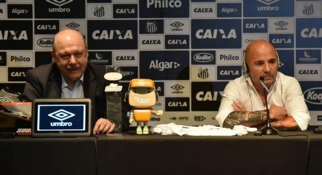 Presidente não perdeu as esperanças após derrota do Santos para Grêmio