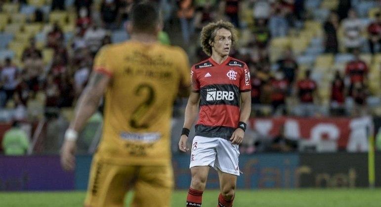 David Luiz durante estreia com a camisa do Flamengo nesta quarta-feira (22)