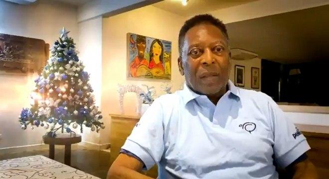 Pelé gravou um vídeo para comemorar o Natal