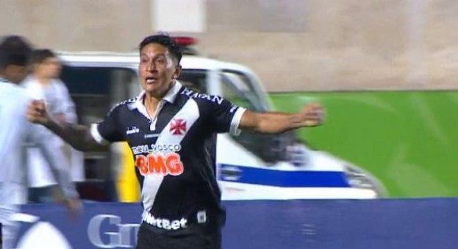 Germán Cano marcou o seu primeiro gol com a camisa do Vasco