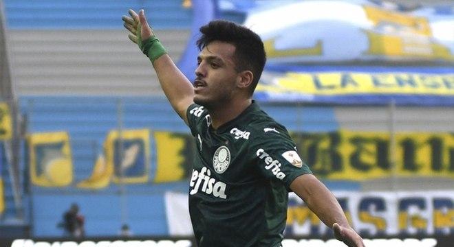 Gabriel Menino fez o primeiro gol da vitória do Palmeiras contra Delfín