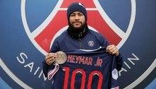Com 81 gols, Neymar comemora 100 jogos no PSG: 'muito contente'