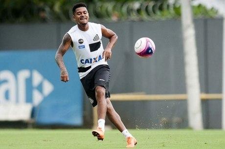 O atacante Diogo Vitor, do Santos