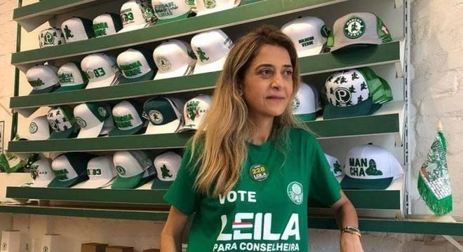 Leila Pereira teve votação expressiva em reeleição como conselheira do Palmeiras