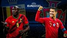 Lukaku e CR7 fazem duelo à parte nas oitavas da Eurocopa