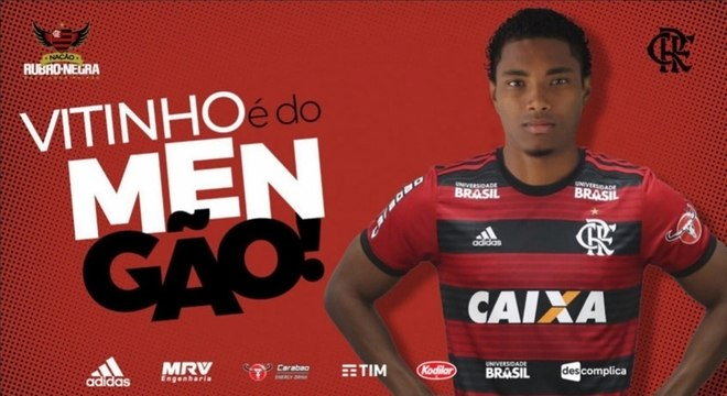 Vitinho é o novo reforço do Flamengo, anunciado nesta sexta (27)