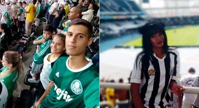 Rodrigo Masello (Palmeiras) e Carolina Pedreira (Santos) moram no Rio de Janeiro