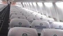 Palmeiras foi ao Rio com 'Rumo ao bi' no avião? Checamos