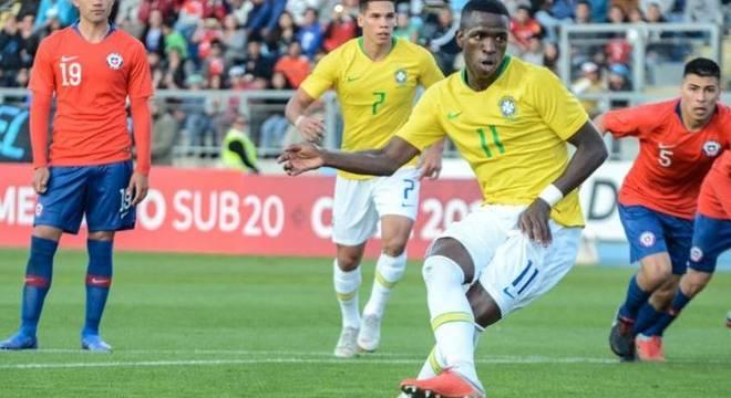 Vinicius Junior pela Seleção Brasileira Sub-20