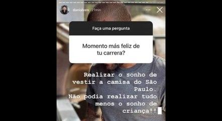 Daniel Alves está no São Paulo desde 2019
